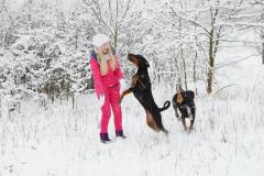 Sevara и Saphir Schwarz 7 месяцев, зима 2016